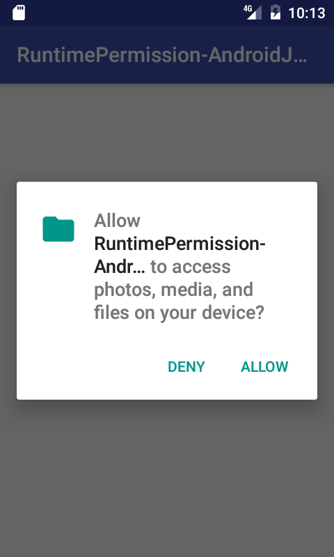 Runtime Permission