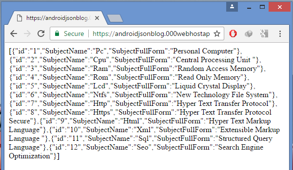 Android Store PHP MySQL JSON Parsing data into SQLite