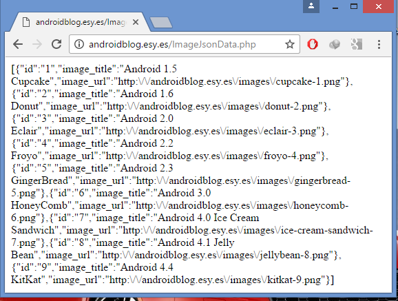 Android JSON Parsing RecyclerView With Image and Text