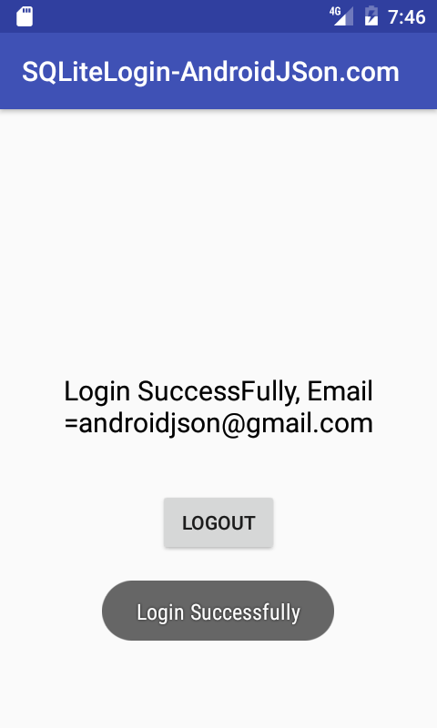 Android Local SQLite Database User Login Registration System Example Tutorial