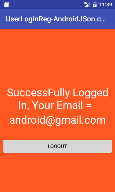 Android Server Login And Registration With PHP MySQL in Android