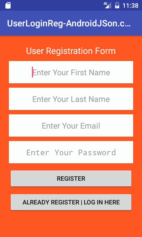 Android Server Login And Registration With PHP MySQL in Android ...
