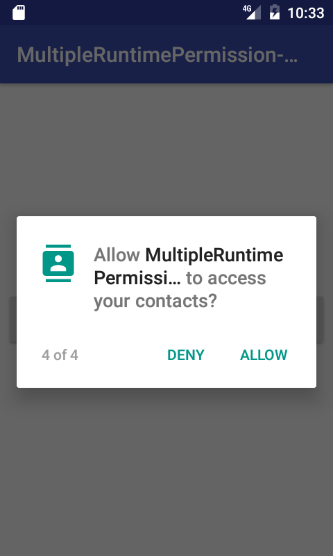 Android Request Multiple Runtime Permissions at Single Request in Marshmallow