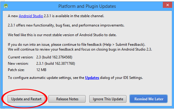 Manually Update Android Studio Old Version to Latest Upcoming Fresh